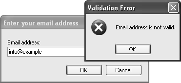 Validating email address in c sharp